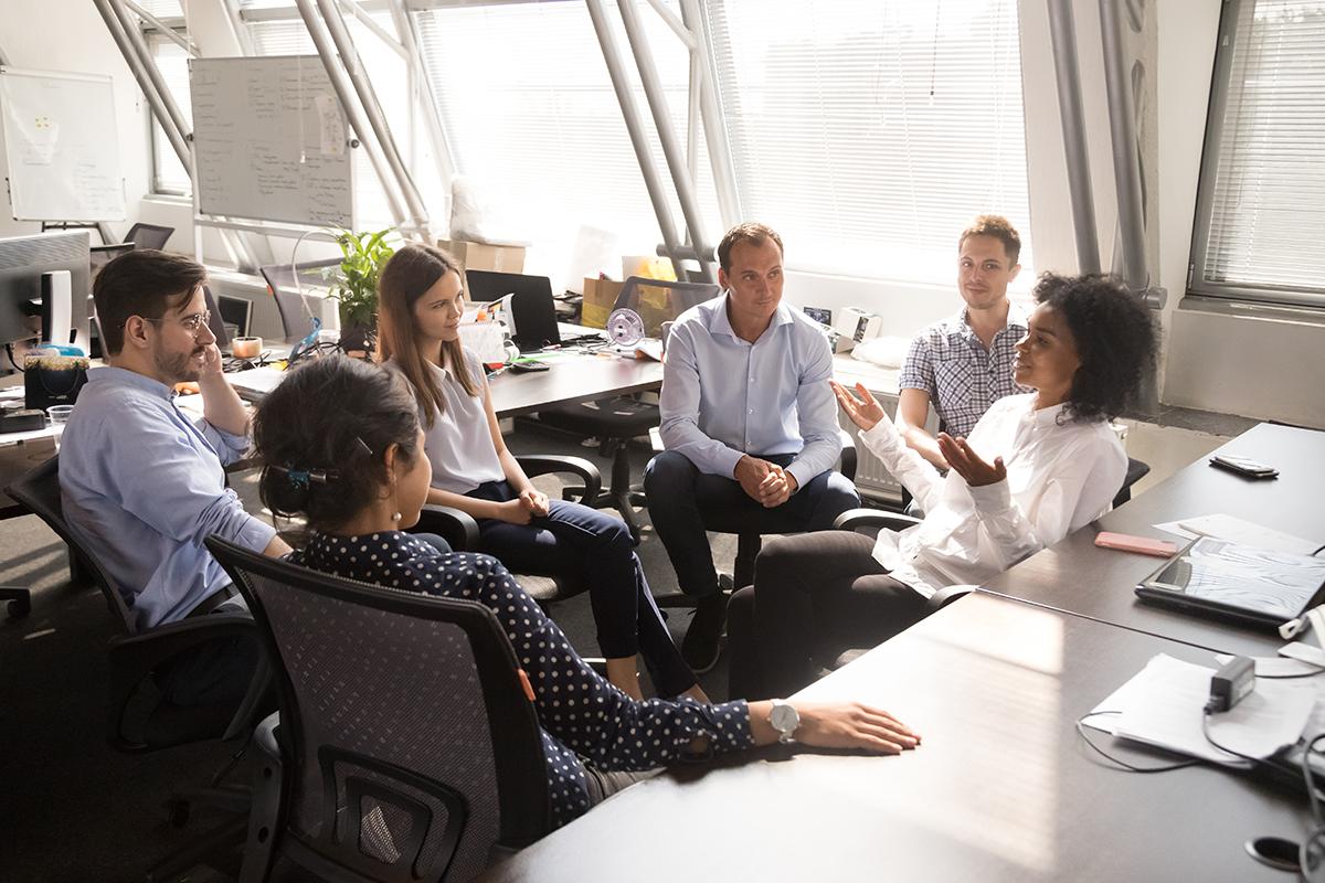 Réunion d'équipe nouvelles pratiques managériales